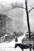 "Stieglitz:  ""The Street"". 1903  Metropolitan Museum, New York."