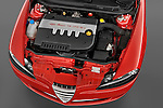 High angle engine detail of a 2000 - 2010 Alfa Romeo 147 5 Door Ducati Corse Hatchback.