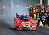 May 6, 2017; Commerce, GA, USA; NHRA funny car driver Jonnie Lindberg during qualifying for the Southern Nationals at Atlanta Dragway. Mandatory Credit: Mark J. Rebilas-USA TODAY Sports
