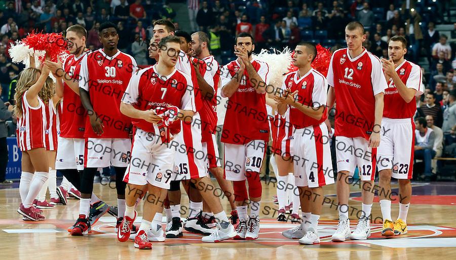 Euroleague basketball game between Crvena Zvezda and Fenerbahce on Novembar 6. 2015 Beograd, Srbija, 6.11.2015.  (credit image & photo: Pedja Milosavljevic / STARSPORT)