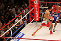 (L to R) Kazuto Ioka (JPN),  Juan Hernandez (Mex), AUGUST 10, 2011 - Boxing : Kazuto Ioka of Japan hits Juan Hernandez of Mexico during the WBC Minimum weight title bout at Korakuen Hall, Tokyo, Japan. Kazuto Ioka of Japan won the fight on points after twelve rounds. (Photo by Yusuke Nakanishi/AFLO) [1090]