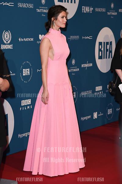 LONDON, UK. December 02, 2018: Gemma Arterton at the British Independent Film Awards 2018 at Old Billingsgate, London.<br /> Picture: Steve Vas/Featureflash