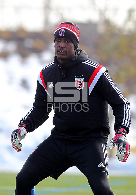 ARLINGTON, VIRGINIA - February 18, 2014: D.C. United first practice session of the 2014 MLS season at home.