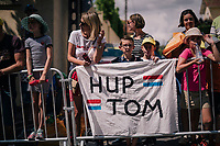 Tom Dumoulin (NED/Sunweb) fans in front of the teambus at the start<br /> <br /> Stage 15: Millau &gt; Carcassonne (181km)<br /> <br /> 105th Tour de France 2018<br /> &copy;kramon