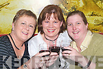 BIRTHDAY TOAST: Anne Moynihan (centre) having a toast to her 40th birthday with Denise Crean and Mary Lynch (Tralee) at the Sunshine Palace Chinese Restaurant, Castle Street, Tralee ,on Thursday night.   Copyright Kerry's Eye 2008