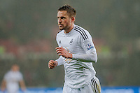 Sunday  14th   December 2014 <br /> Pictured: Gylfi Sigurosson of Swansea City <br /> Re: Barclays Premier League Swansea City v Tottenham Hotspur  at the Liberty Stadium, Swansea, Wales,UK