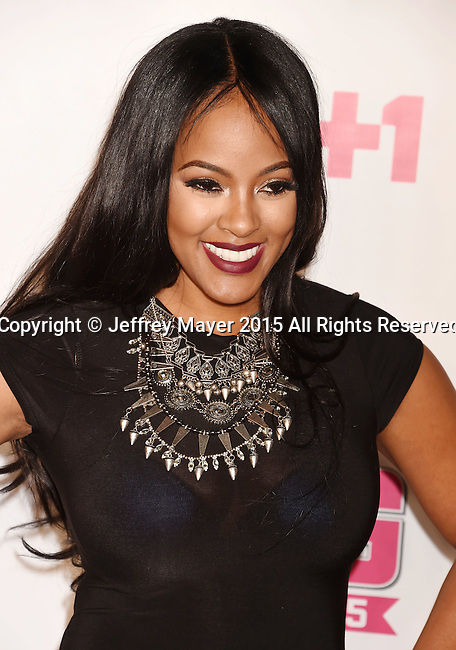 WEST HOLLYWOOD, CA - NOVEMBER 15: TV personality Malaysia Pargo attends VH1 Big In 2015 With Entertainment Weekly Awards at Pacific Design Center on November 15, 2015 in West Hollywood, California.