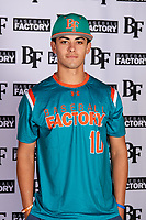 Michael  Machin(10) of Monsignor Edward Pace High School in Miami Lakes, Florida during the Baseball Factory All-America Pre-Season Tournament, powered by Under Armour, on January 12, 2018 at Sloan Park Complex in Mesa, Arizona.  (Mike Janes/Four Seam Images)