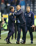 Graeme Murty and Lee McCulloch embrace at full-time