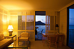 The Halekulani Hotel, the Hawaiian name meaning House Befitting Heaven, located on Waikiki beach in Honolulu, Hawaii offers stunning views of Diamond Head in a historic, secluded and exclusive setting.  The Diamond Head Suite, room 1466