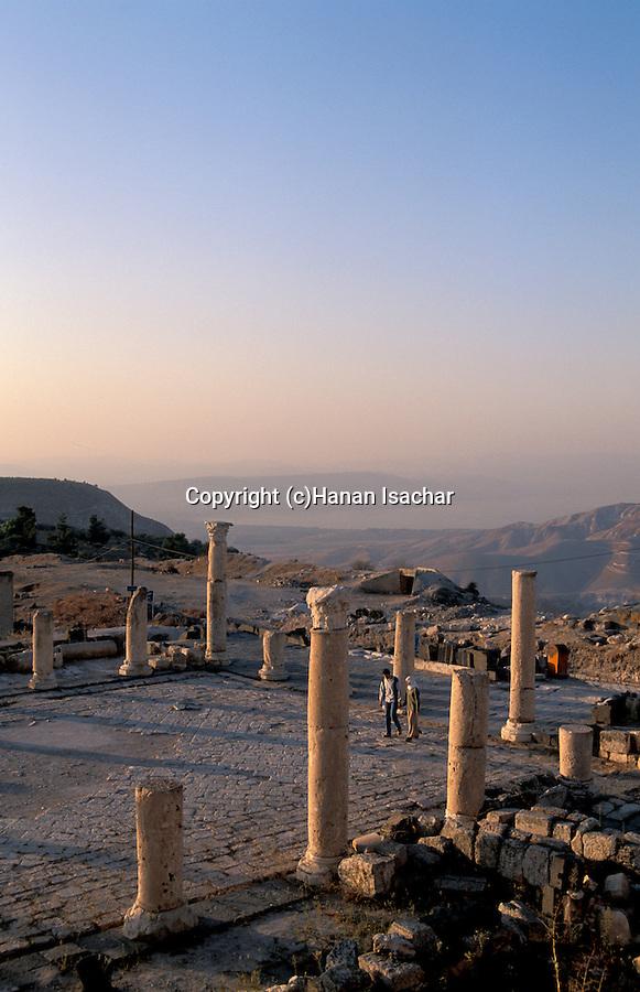 Jordan, Umm Qays overlooking the Sea of Galilee, the ruins of the Acropolis&#xA;<br />