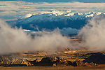 Cloud rising out of the Owens Valley below the White Mountains, Eastern Sierra, California