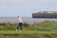 Luke Donnelly (Kilkenny) on the 4th tee during Matchplay Round 1 of the South of Ireland Amateur Open Championship at LaHinch Golf Club on Friday 22nd July 2016.<br /> Picture:  Golffile | Thos Caffrey<br /> <br /> All photos usage must carry mandatory copyright credit   (© Golffile | Thos Caffrey)