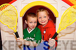 TIME OUT: Enjoying the Meningitis Trust Coffee Morning and Fun Day at the Duagh family Resource Centre on Friday last were Cillian Buckley and Ryan Large.