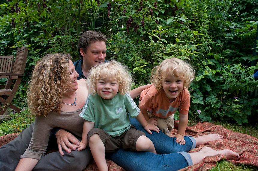 Alix, Alexander, Niels and Sebastian family portraits, Bristol, England