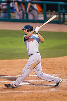 Nashville Sounds designated hitter Nate Freiman (38) swings the bat during the Pacific Coast League baseball game against the Oklahoma City Dodgers on June 12, 2015 at Chickasaw Bricktown Ballpark in Oklahoma City, Oklahoma. The Dodgers defeated the Sounds 11-7. (Andrew Woolley/Four Seam Images)