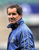 Twickenham, England. Australia head coach Robbie Deans during the Australia training and Media session during the England captains run for the QBE Internationals England v Australia at Twickenham Stadium on 17 November. Twickenham, England, November 16. 2012.