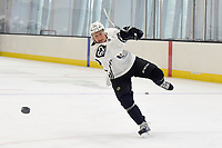 June 28, 2018: Boston Bruins forward Oskar Steen (62) takes a shot at the net during the Boston Bruins development camp held at Warrior Ice Arena in Brighton Mass. Eric Canha/CSM