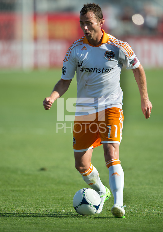 July 28, 2012: Houston Dynamo midfielder Brad Davis #11 in action during a game between Toronto FC and the Houston Dynamo at BMO Field in Toronto, Ontario Canada..The Houston Dynamo won 2-0.