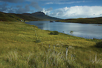 The Old Man of Storr from Loch Leathan, Isle of Skye, Inner Hebrides, Highland<br /> <br /> Copyright www.scottishhorizons.co.uk/Keith Fergus 2011 All Rights Reserved