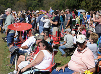 NWA Democrat-Gazette/ANDY SHUPE<br /> A large crowd gathers Saturday, Sept. 26, 2015, to watch a re-enactment of the Civil War Battle of Pea Ridge in Pea Ridge. Visit nwadg.com/photos to see more photos from the weekend.