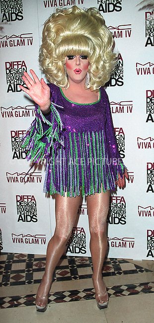 Transvestite Lady Bunny arrives at the Viva Glam Casino event to benefit Design Industries Foundation Fighting Aids at Cipriani 42nd Street. New York, June 19, 2002. Please byline: Alecsey Boldeskul/NY Photo Press.   ..*PAY-PER-USE*      ....NY Photo Press:  ..phone (646) 267-6913;   ..e-mail: info@nyphotopress.com