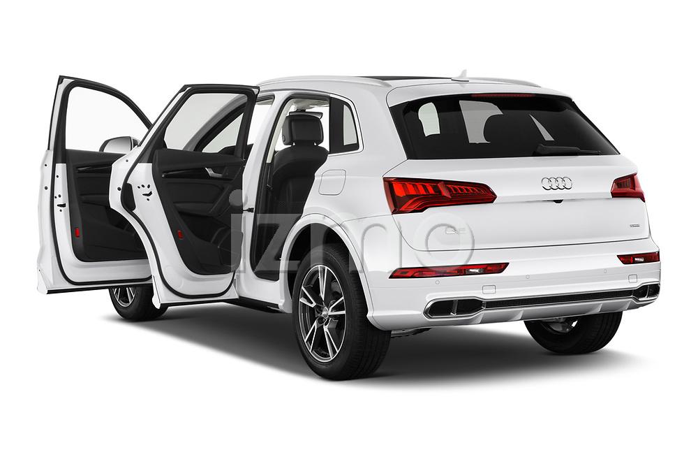 Car images close up view of a 2020 Audi Q5 Premium 5 Door SUV doors