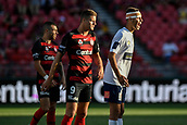 9th February 2019, Spotless Stadium, Sydney, Australia; A League football, Western Sydney Wanderers versus Central Coast Mariners; Jonathan Aspro  of the Central Coast Mariners organises his defence