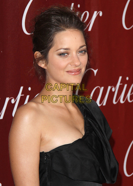 MARION COTILLARD.The 21st Annual Palm Springs International Film Festival held at The Civic Center in Palm Springs, California, USA. .January 5th, 2010.headshot portrait black one shoulder.CAP/RKE/DVS.©DVS/RockinExposures/Capital Pictures.
