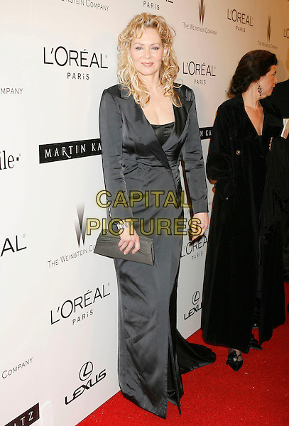 JEAN SMART.Attending The Weinstein Company's 2007 Golden Globes After Party held at Trader Vics at The Beverly Hilton Hotel, Beverly Hills, California, USA, 15 January 2007..full length black dress long coat jacket.CAP/ADM/RE.©Russ Elliot/AdMedia/Capital Pictures.