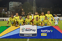 ITAGÜÍ - COLOMBIA, 25-02-2020: Jugadores de Leones posan para una foto previo al encuentro entre Leones F.C. y Atlético Huila por la fecha 4 de la Torneo BetPlay DIMAYOR I 2020 jugado en el estadio Polideportivo Sur de Envigado. / Players of Leones pose to a photo prior the match between Leones F.C. and Atletico Huila between Leones F.C. and Atletico Huila for the date 4 of the BetPlay DIMAYOR Tournament I 2020 played at Polideportivo Sur stadiim in Envigado city.  Photo: VizzorImage / Leon Monsalve / Cont
