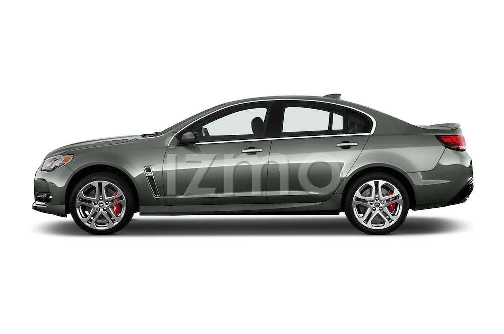 Car Driver side profile view of a 2016 Chevrolet SS 6.2 4 Door Sedan Side View