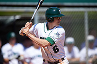 Dartmouth Big Green second baseman Dustin Shirley (6) at bat during a game against the Iowa Hawkeyes on February 27, 2016 at South Charlotte Regional Park in Punta Gorda, Florida.  Iowa defeated Dartmouth 4-1.  (Mike Janes/Four Seam Images)