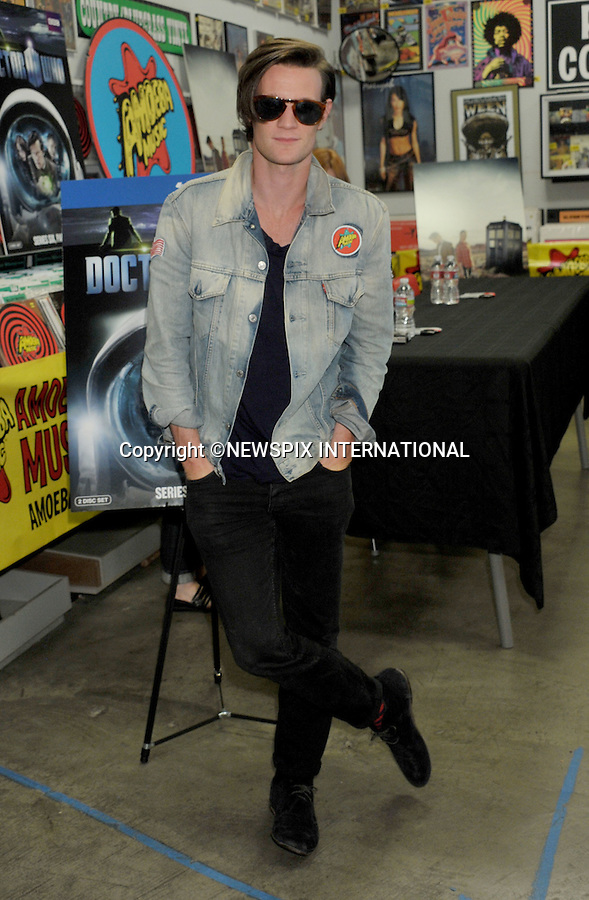 "MATT SMITH.at the DVD and Blu-Ray Signing of ""Doctor Who: Series Six, Part 1"" at Amoeba Music Store, Hollywood, California_26/07/2011.Mandatory Photo Credit: ©Crosby/Newspix International. .**ALL FEES PAYABLE TO: ""NEWSPIX INTERNATIONAL""**..PHOTO CREDIT MANDATORY!!: NEWSPIX INTERNATIONAL(Failure to credit will incur a surcharge of 100% of reproduction fees).IMMEDIATE CONFIRMATION OF USAGE REQUIRED:.Newspix International, 31 Chinnery Hill, Bishop's Stortford, ENGLAND CM23 3PS.Tel:+441279 324672  ; Fax: +441279656877.Mobile:  0777568 1153.e-mail: info@newspixinternational.co.uk"