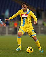 Goran Pandev  durante l'incontro di calcio di Serie A  Lazio Napoli   allo  Stadio Olimpico  di Romai , 2 Dicembre 2013<br /> Foto Ciro De Luca