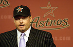 Pitcher Roger Clemens at the press conference announcing his return to the Houston Astros Wednesday May 31,2006.