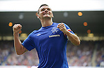 Captain fantastic Lee McCulloch punches the air after scoring