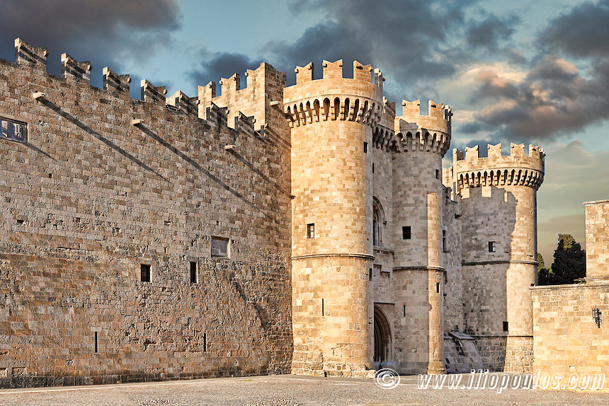 The Palace of the Grand Master of the Knights is a medieval castle in the old city of Rhodes, Greece