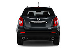 Straight rear view of a 2017 Ssangyong Korando Quartz 5 Door SUV stock images
