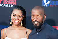 Los Angeles, CA - AUGUST 13th: <br /> Corinne Foxx, Jamie Foxx attends the 47 Meters Down: Uncaged premiere at the Regency Village Theater on August 13th 2019. Credit: Tony Forte/MediaPunch