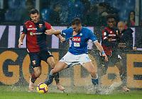 Luca Mazzitelli of Genoa  and Fabian Ruiz of Napoli  during  Genoa -   Napoli Stadio Luigi Ferraris, Genoa, Italy; Serie A football 10th November 2018