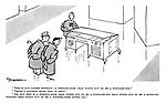 """""""This is our latest novelty  - a writing-desk that turns out to be a wireless-set."""" """"There's nothing much new in that."""" """"Ah, but this is a writing-desk that tuns out to be a wireless-set that turns out to be a cocktail cabinet that turns out to be a writing-desk after all."""""""