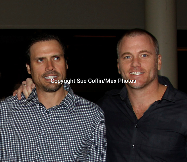 Joshua Morrow & Sean Carrigan - The Young and The Restless - Genoa City Live celebrating over 40 years with on February 27. 2016 at The Lyric Opera House, Baltimore, Maryland on stage with questions and answers followed with autographs and photos in the theater.  (Photo by Sue Coflin/Max Photos)