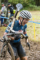 NWA Democrat-Gazette/BEN GOFF @NWABENGOFF<br /> Racers compete in the UCI Elite Women event Sunday, Oct. 6, 2019, during the the Fayettecross cyclocross races at Centennial Park at Millsap Mountain in Fayetteville.