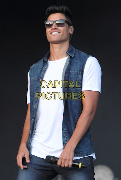 BIRMINGHAM, UNITED KINGDOM - AUGUST 31: The Wanted - Siva Kaneswaran performs during day 2 of Fusion Festival 2014 on August 31, 2014 in Birmingham, England.<br /> CAP/ROS<br /> &copy;Steve Ross/Capital Pictures
