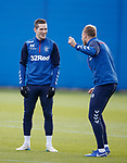 22.11.2019 Rangers training: Ryan Kent and Scott Arfield