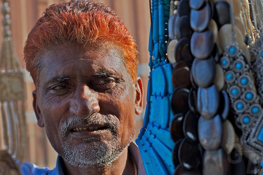 Street vendor outside New Delhi India
