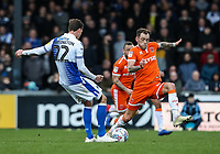 Blackpool's Harry Pritchard competing with Bristol Rovers' Joe Partington <br /> <br /> Photographer Andrew Kearns/CameraSport<br /> <br /> The EFL Sky Bet League Two - Bristol Rovers v Blackpool - Saturday 2nd March 2019 - Memorial Stadium - Bristol<br /> <br /> World Copyright © 2019 CameraSport. All rights reserved. 43 Linden Ave. Countesthorpe. Leicester. England. LE8 5PG - Tel: +44 (0) 116 277 4147 - admin@camerasport.com - www.camerasport.com