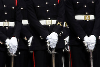 Army officer cadets at Sandhurst Military Academy, Surrey, United Kingdom RESERVED USE - NOT FOR DOWNLOAD -  FOR USE CONTACT TIM GRAHAM