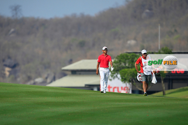 Hiroyuki Fujita (JPN) in action on the 1st during Round 3 of the True Thailand Classic, at the Black Mountain Golf Club, Hua Hin, Thailand.  12/03/2016. <br /> Picture: Golffile | Thos Caffrey.<br /> <br /> All photos usage must carry mandatory copyright credit <br /> (&copy; Golffile | Thos Caffrey).